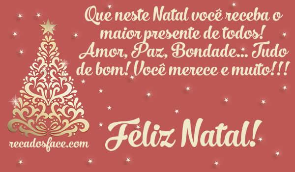 Feliz Natal, amor, paz, bondade
