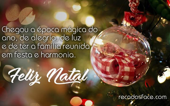 Mensagens e imagens de Feliz Natal